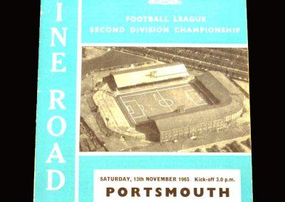 Man City v Portsmouth 13.11.1965