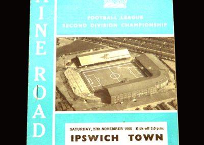 Man City v Ipswich 27.11.1965