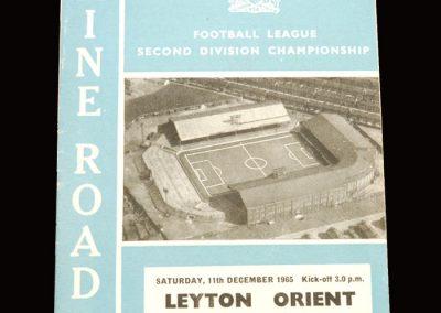Man City v Leyton Orient 11.12.1965
