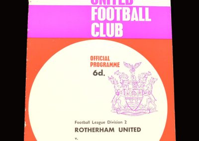 Man City v Rotherham 28.12.1965 (postponed)