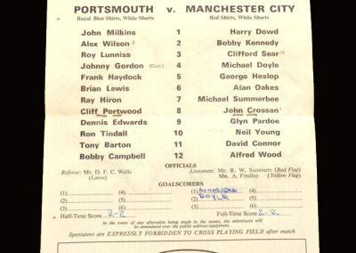 Man City v Portsmouth 08.01.1966