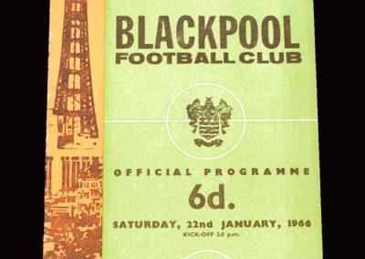 Man City v Blackpool 22.01.1966 - FA Cup 3rd Round