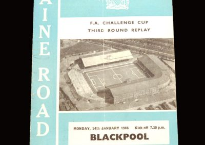 Man City v Blackpool 24.01.1966 - FA Cup 3rd Round Replay