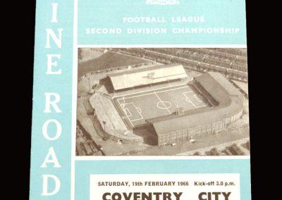 Man City v Coventry 19.02.1966