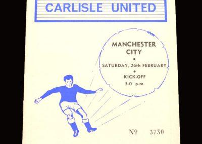 Man City v Carlisle 26.02.1966