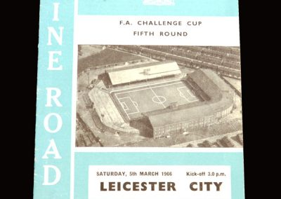 Man City v Leicester 05.03.1966 - FA Cup 5th Round