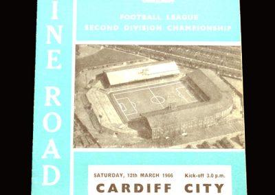 Man City v Cardiff 12.03.1966