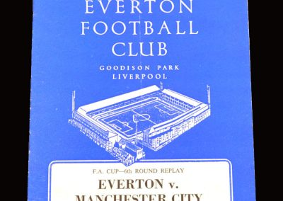 Man City v Everton 29.03.1966 - FA Cup 6th Round Replay
