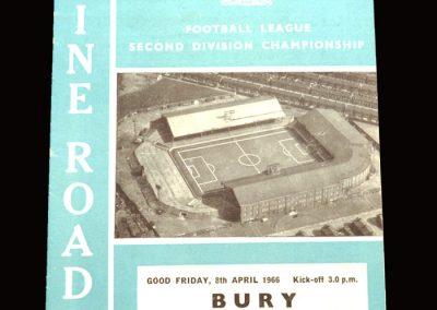 Man City v Bury 08.04.1966