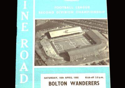 Man City v Bolton 16.04.1966