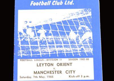 Man City v Leyton Orient 07.05.1966