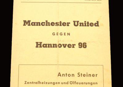 Man Utd v Hannover 96 07.08.1965 (friendly)