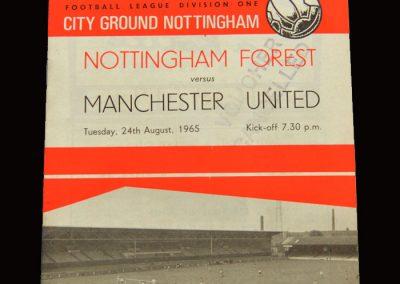 Man Utd v Notts Forest 24.08.1965