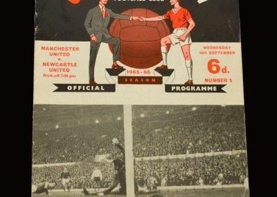 Man Utd v Newcastle 15.09.1965