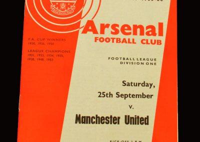 Man Utd v Arsenal 25.09.1965