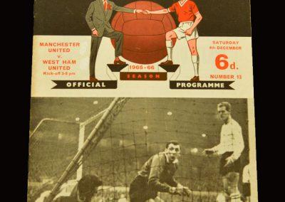 Man Utd v West Ham 04.12.1965