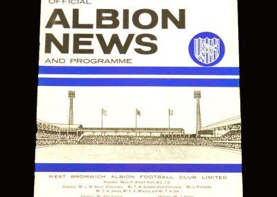Man Utd v West Brom 28.12.1965 (postponed)