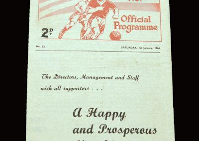 Man Utd Reserves v Leeds Reserves 01.01.1966