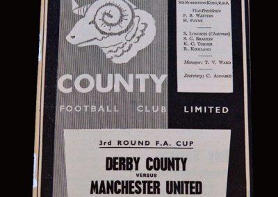 Man Utd v Derby 22.01.1966 - FA Cup 3rd Round