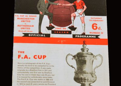 Man Utd v Rotherham 12.02.1966 - FA Cup 4th Round