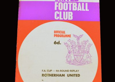 Man Utd v Rotherham 15.02.1966 - FA Cup 4th Round Replay