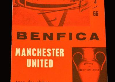 Man Utd v Benfica 09.03.1966 - European Cup Quarter Final 2nd Leg
