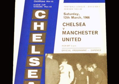 Man Utd v Chelsea 12.03.1966