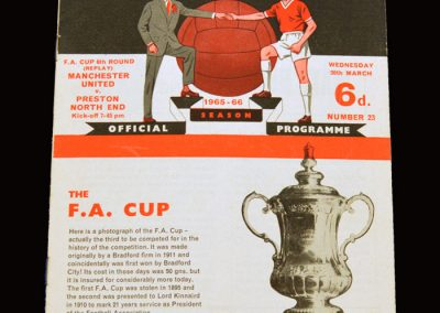 Man Utd v Preston 30.03.1966 - FA Cup 6th Round Replay