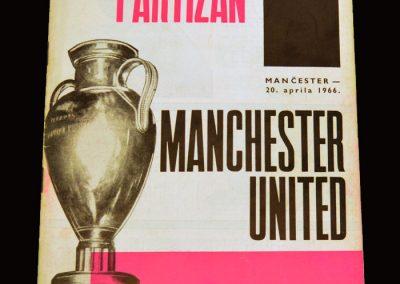Man Utd v Partizan Belgrade 13.04.1966 - European Cup Semi Final 1st Leg