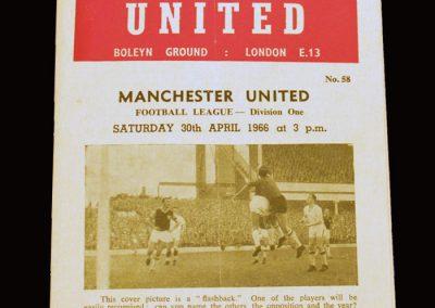 Man Utd v West Ham 30.04.1966