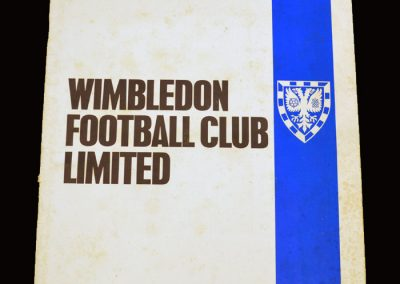 Wimbledon 1977 Application for League Membership