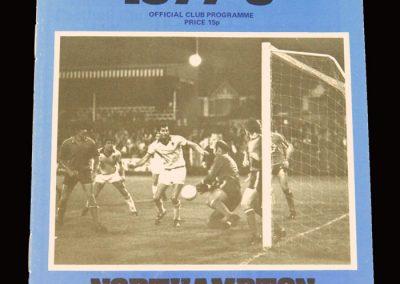 Wimbledon v Northampton 24.09.1977