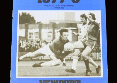 Wimbledon v Newport County 27.09.1977