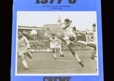 Wimbledon v Crewe Alexandra 08.10.1977