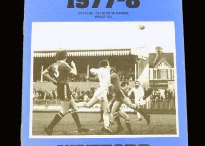 Wimbledon v Watford 31.12.1977
