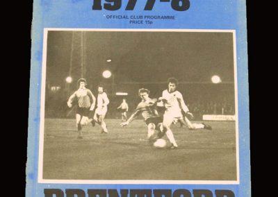 Wimbledon v Brentford 07.01.1978