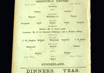 Sheff Utd v Sunderland 09.02.1907