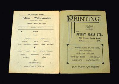 Fulham v Wolves 19.03.1910