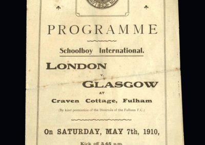 London Schools v Glasgow Schools 07.05.1910