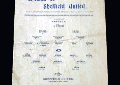 Chelsea v Sheff Utd 14.09.1912 (pirate)