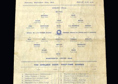 Chelsea v Man Utd 20.09.1913