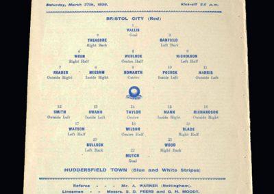 Bristol City v Huddersfield 27.03.1920 (FA Cup Semi Final)
