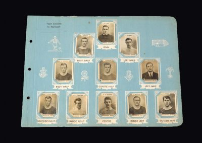 Man Utd Team Cards 1920-21 Season