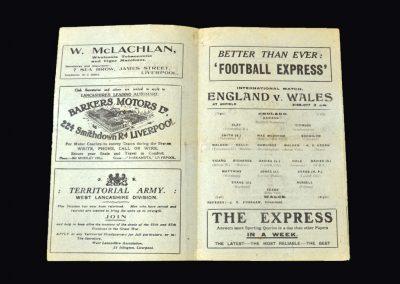 England v Wales 13.03.1922