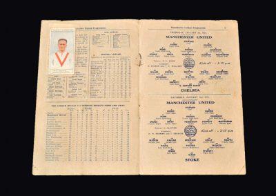 Man Utd v Chelsea 01.01.1925 | Man Utd v Stoke 03.01.1925