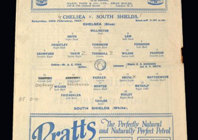 Chelsea v South Shields 26.02.1927