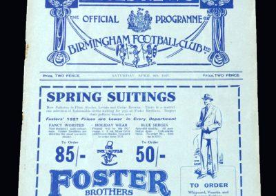 Birmingham v Newcastle 09.04.1927