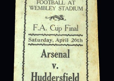 Arsenal v Huddersfield 26.04.1930 - FA Cup Final (pirate)
