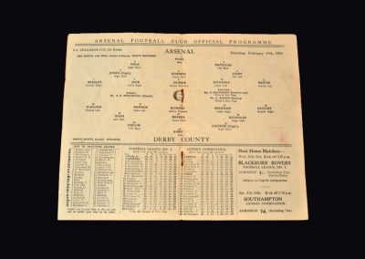 Arsenal v Derby 17.02.1934 (FA Cup 5th Round)
