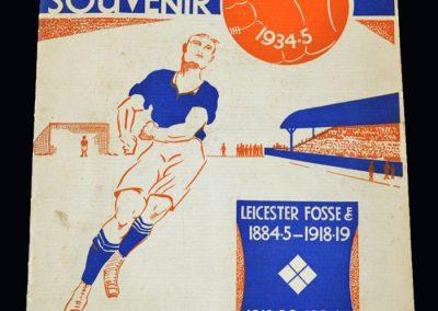 Leicester City Jubilee Souvenir 1935/35 Season